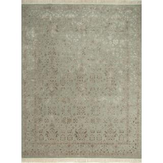 Hand Knotted Spa Blue Classic Pattern Rug (8' X 10')