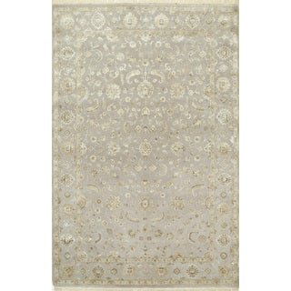Hand Knotted Soft Gray Classic Pattern Rug (8' X 10')