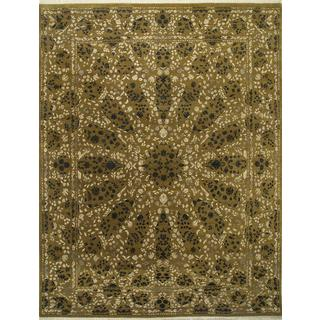 Hand Knotted Topaz Transitional Floral Pattern Rug (8' X 10')