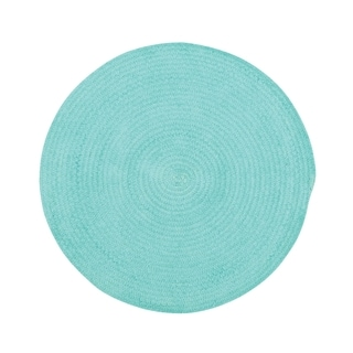 "Brindille Chenille Made to Order Rug Island Blue (36"")"