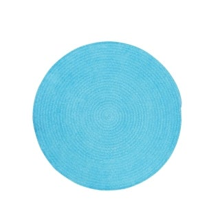 "Brindille Chenille Rug Blue (36"")"
