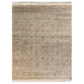 Hand Knotted Flax Classic Pattern Rug (8'3 X 11'6)