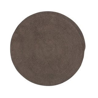 """Brindille Chenille Made to Order Rug Chocolate (36"""") - 3' x 3'"""