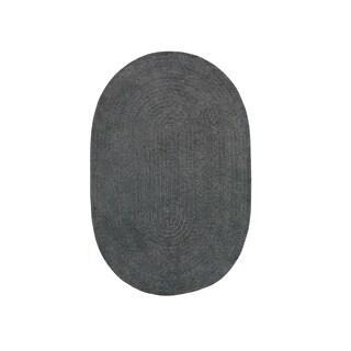 Brindille Chenille Oval Rug Cinder (2' x 3')