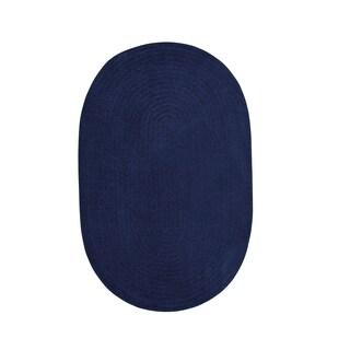 Brindille Chenille Oval Rug Dark Sapphire (2' x 3')