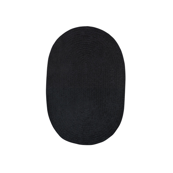 Shop Brindille Chenille Oval Made To Order Rug Onyx