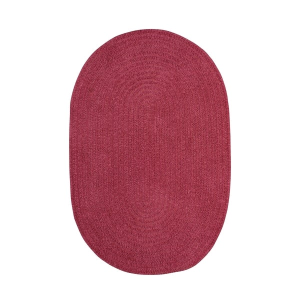Shop Brindille Chenille Oval Made To Order Rug Rose