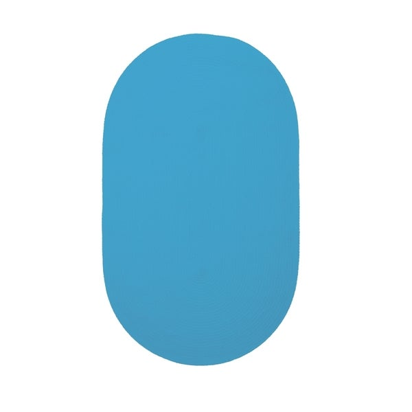 Brindille Chenille Oval Made to Order Rug Blue (2' x 3')