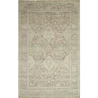 Hand Knotted Wheat Transitional Pattern Rug (8' X 10')
