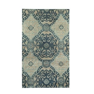 "Jasper Hand Knotted Rug Blueberry (3' 6"" x 5' 6"")"