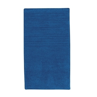 Brindille Chenille Made to Order Rug Royal Blue (3' x 3')