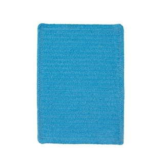 Brindille Chenille Made to Order Rug Blue (3' x 3')