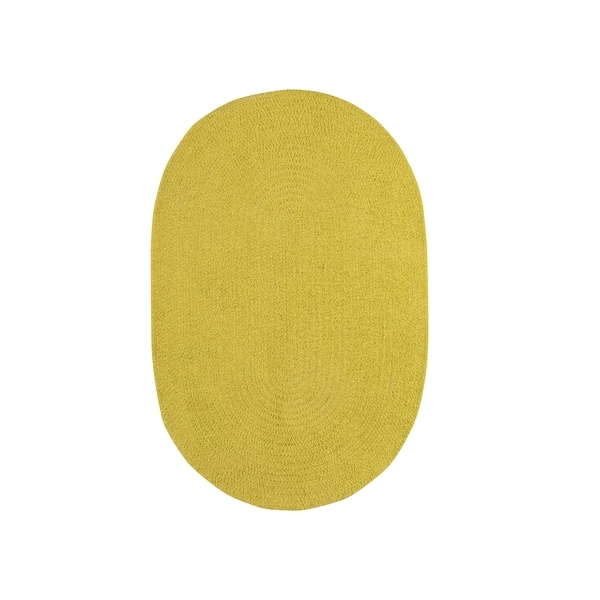 Brindille Chenille Oval Made to Order Rug Leaf - 3' x 5'