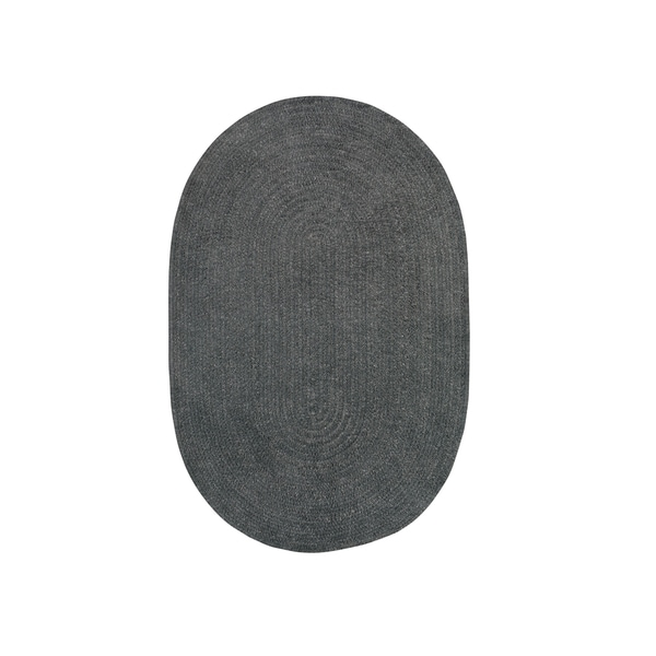 Brindille Chenille Oval Made to Order Rug Cinder - 3' x 5'