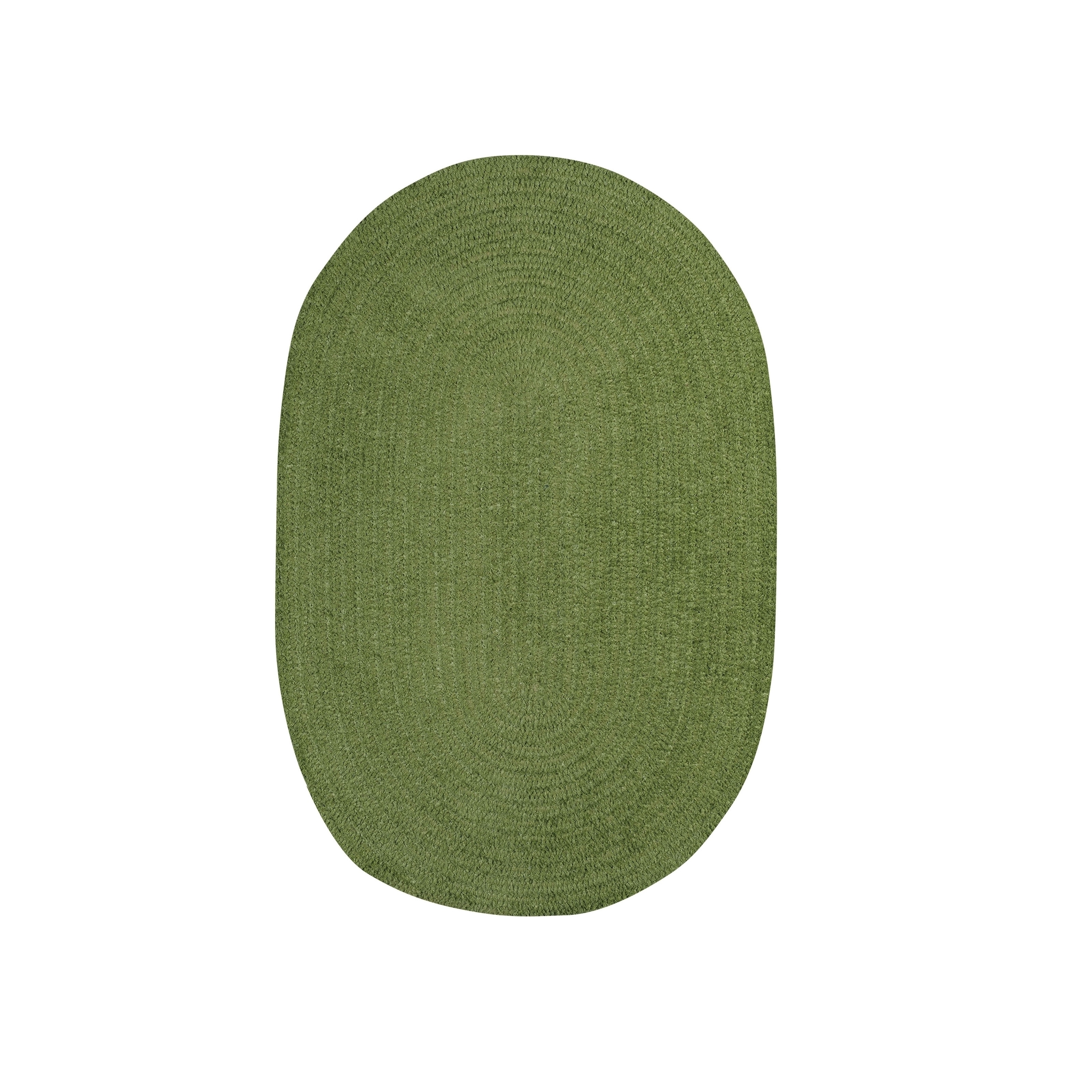 Brindille Chenille Oval Made to Order Rug Grass (3' x 5')...