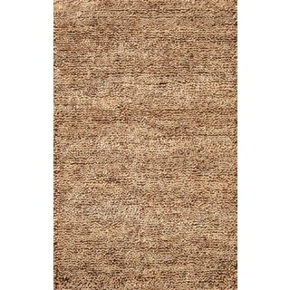 Noble House Inc Eyeball Rust/Brown Wool Shag Rug (8' x 11')