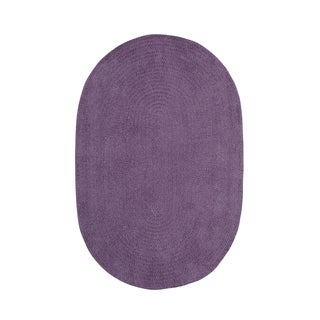 Brindille Chenille Oval Made to Order Rug Wisteria (3' x 5')
