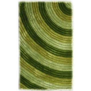 Noble House Inc Bristol Green Polyester Shag Area Rug (8' x 11')