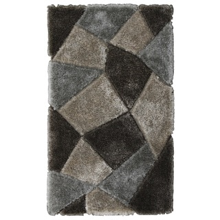 Noble House Inc Bristol Grey Polyester Shag Rug (8'x11')
