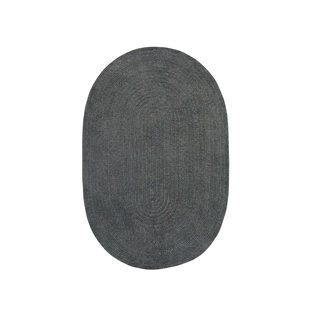 Brindille Chenille Oval Made to Order Rug Cinder (4' x 6')