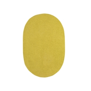 Brindille Chenille Oval Made to Order Rug Leaf (4' x 6')
