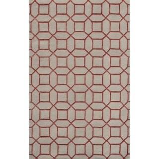 Noble House Inc Indigo Wool/Viscose Hand-tufted Rug (8' x 11')