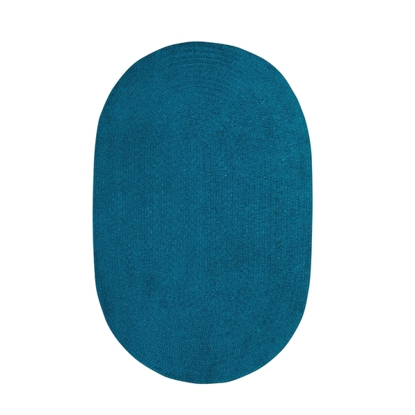 Brindille Chenille Oval Made to Order Rug Azure - 4' x 6'