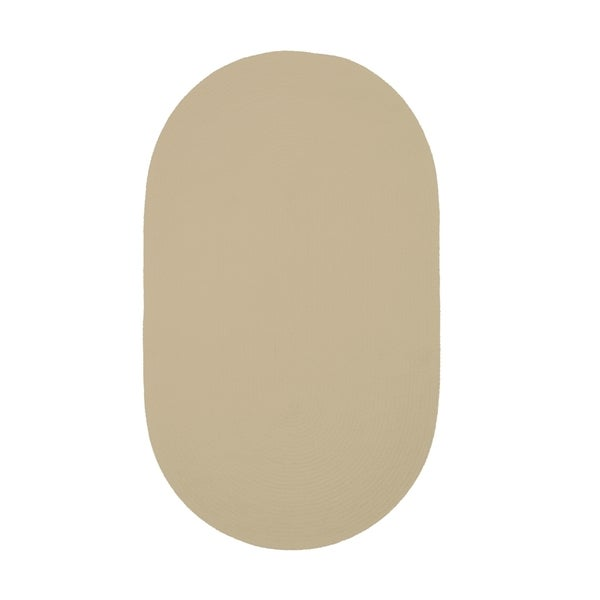 Brindille Chenille Oval Made to Order Rug Coffee (4' x 6')