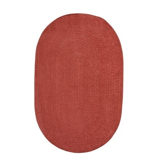 Brindille Chenille Oval Made to Order Rug Wine (4' x 6')