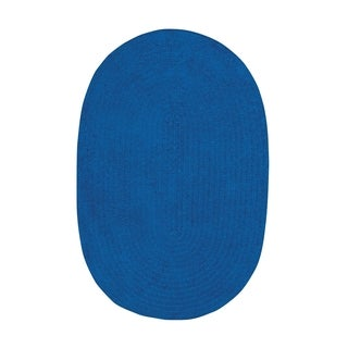 Brindille Chenille Oval Made to Order Rug Royal Blue (4' x 6')