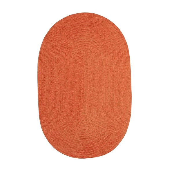 Shop Brindille Chenille Oval Made To Order Rug Cantaloupe