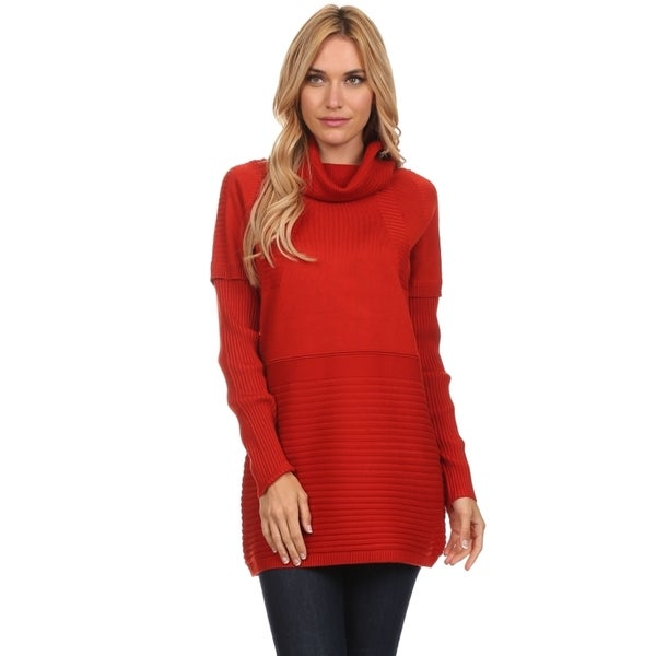 Women's Cashmere Knit Turtleneck Tunic - Free Shipping Today ...