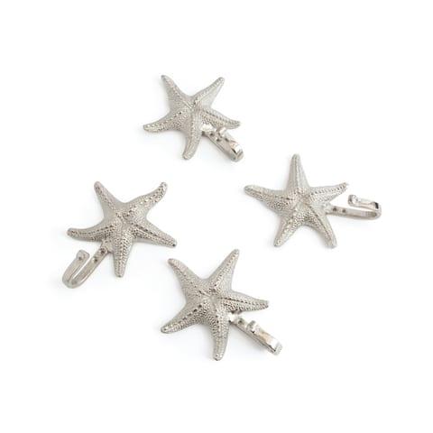 Starfish Brushed Nickel Wall Hooks