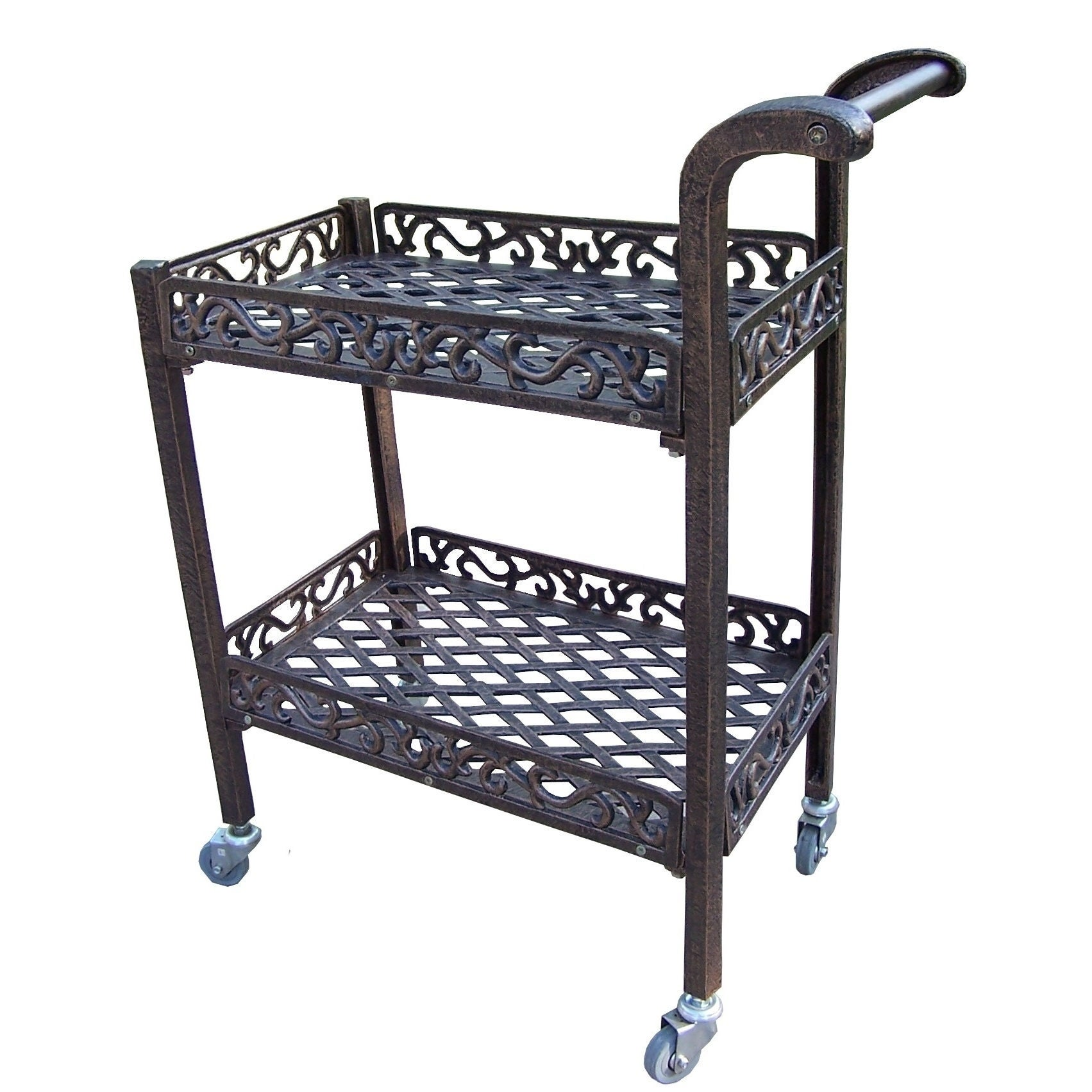 Dakota Cast-aluminum Garden Service Cart (Antique Bronze)