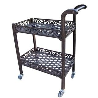 Dakota Cast-aluminum Garden Service Cart
