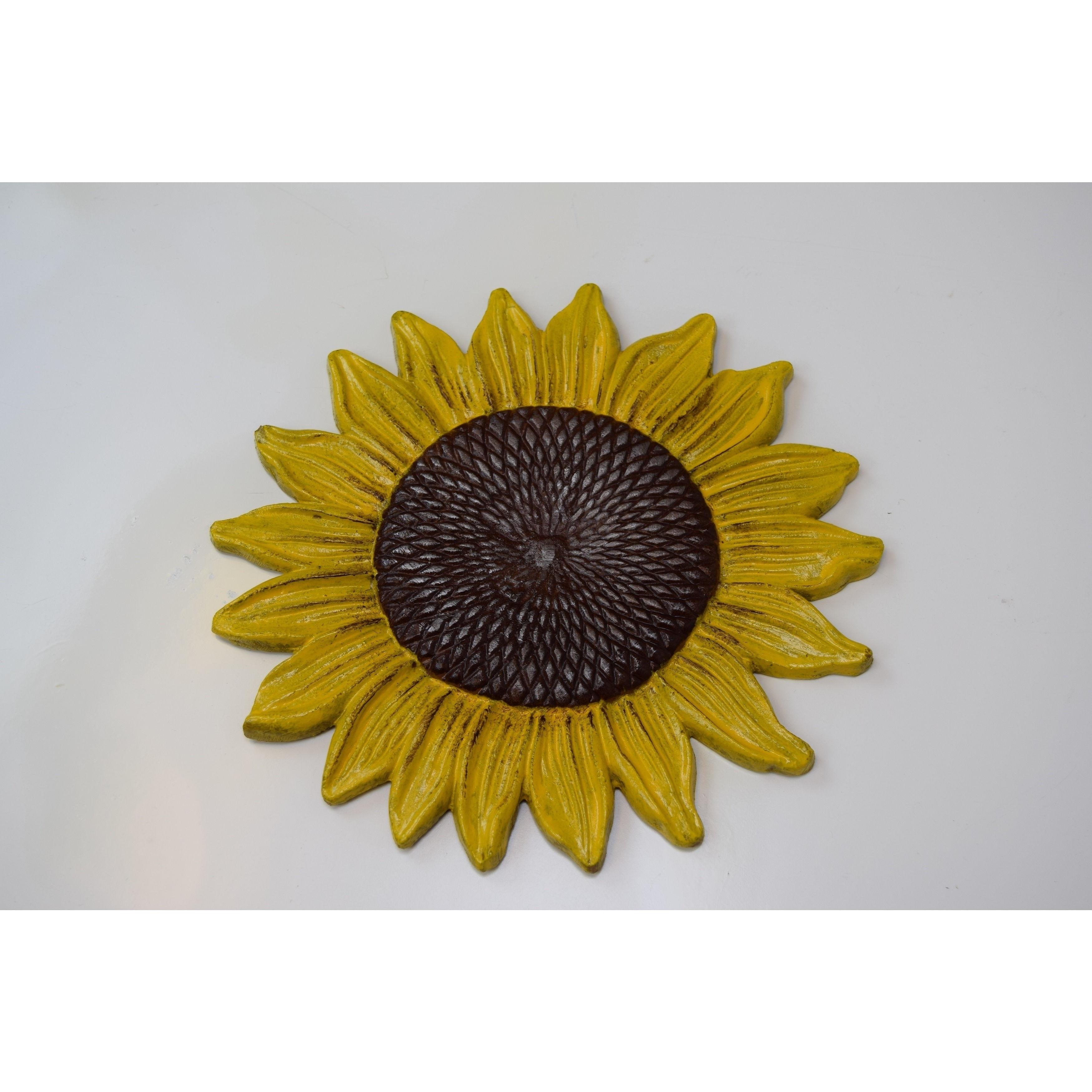 Sunflower Yellow Aluminum Stepping Stones (Yellow), Brown...
