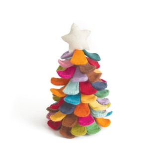 Hip Vintage Grinch Multicolor Wool Felt Tree