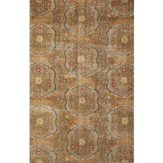 Hand Knotted Orange Spice/Liquorice Transitional Pattern Rug (8' X 10')
