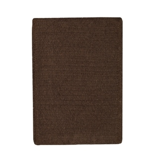"Brindille Chenille Rug Chocolate (7' 6"" x 7' 6"")"
