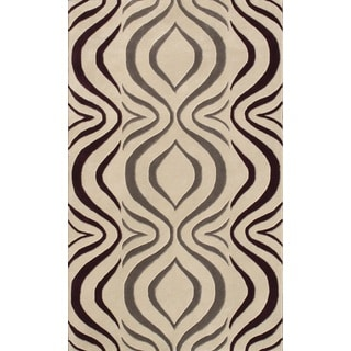 Noble House Inc Cologne Beige Wool Hand-tufted Rug (7'9 x 10'6)