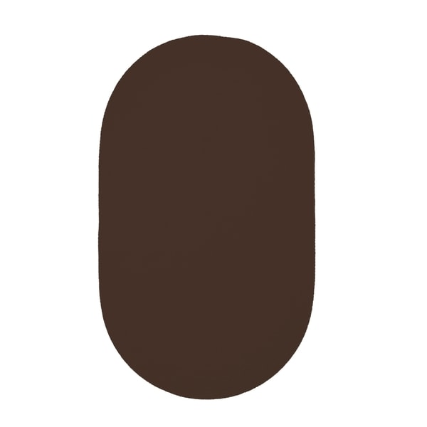 Brindille Chenille Oval Made to Order Rug Chocolate - 7' x 9'