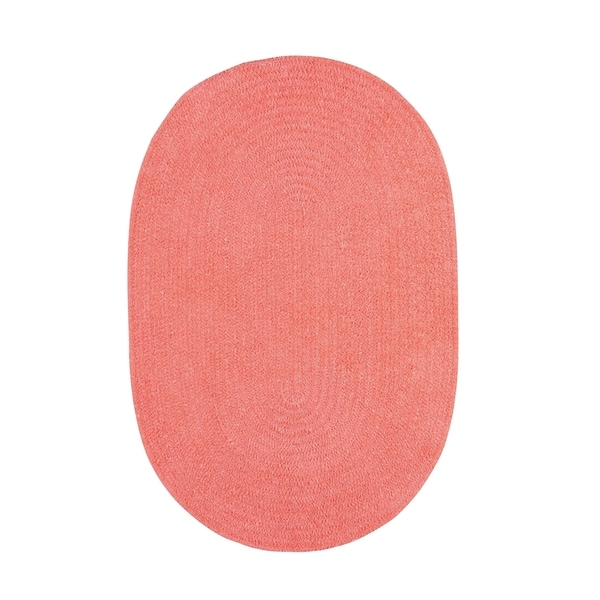 Brindille Chenille Oval Made to Order Rug Bubblegum - 7' x 9'