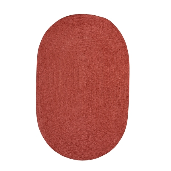Brindille Chenille Oval Made to Order Rug Wine - 7' x 9'