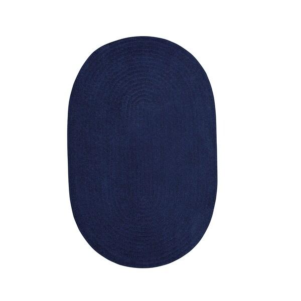 Brindille Chenille Oval Made to Order Rug Dark Sapphire - 7' x 9'