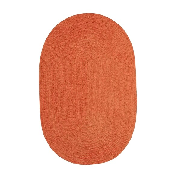 Brindille Chenille Oval Made to Order Rug Cantaloupe - 7' x 9'