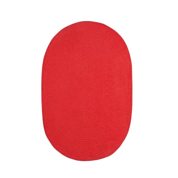 Brindille Chenille Oval Made to Order Rug Cardinal - 7' x 9'