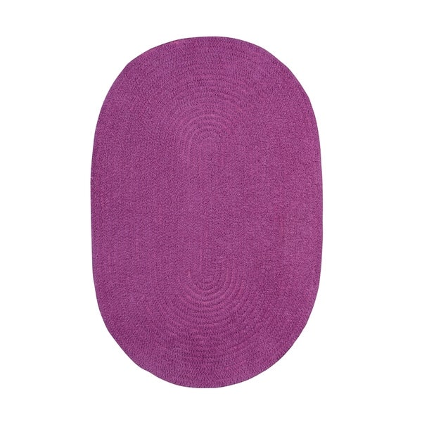 Brindille Chenille Oval Made to Order Rug Blueberry - 7' x 9'