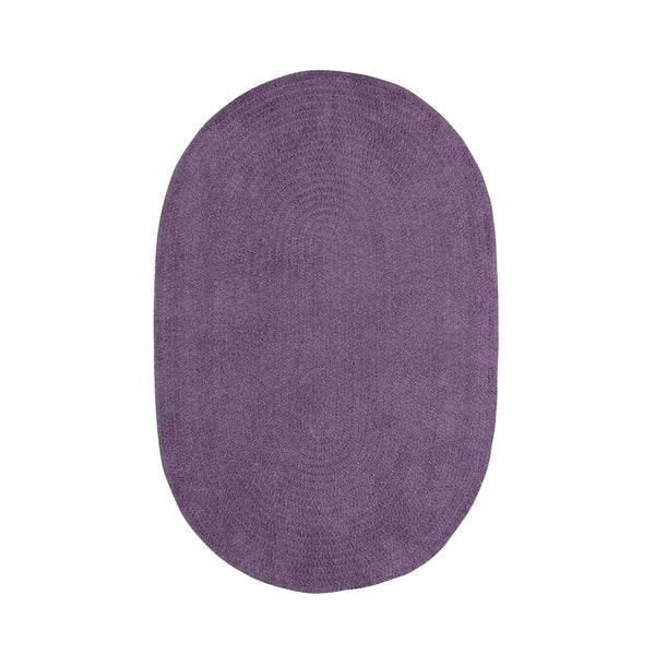 Brindille Chenille Oval Made to Order Rug Wisteria - 7' x 9'