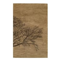 Desert Plateau-Shadow Branch Hand Tufted Rugs Tree Bark - 7' x 9'