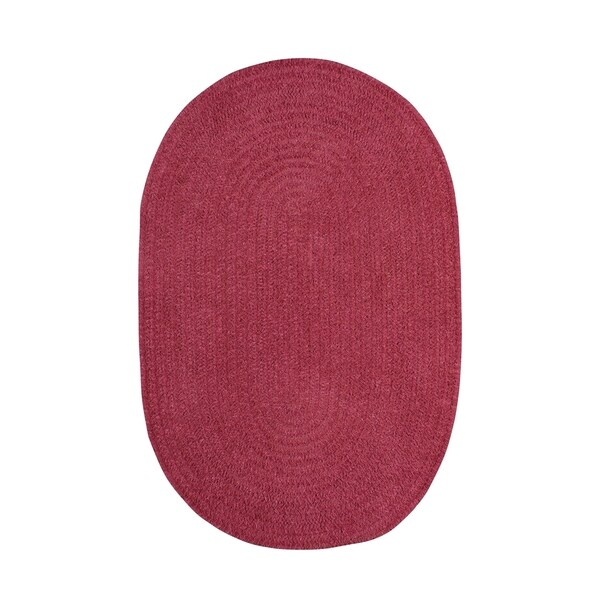 Brindille Chenille Oval Made to Order Rug Rose (8' x 11') - 8' x 11'